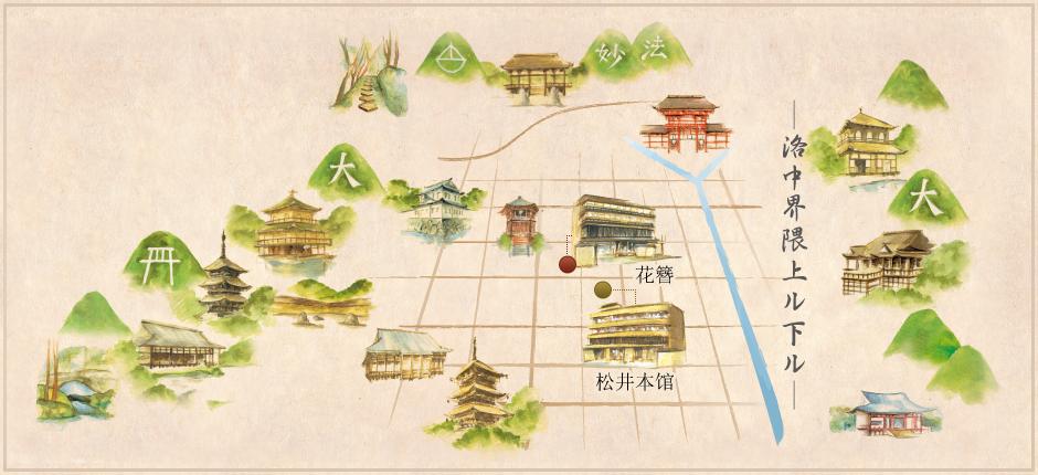 松井本馆周边的世界遗产
